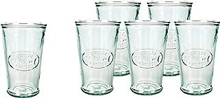 Amici Home, Z7AI4474S6R, Juice De Fruit Italian DOF Glass, Set of 6, 11 oz each, Recycled Green