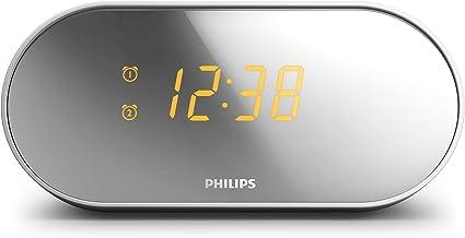 Philips Clock Radio Mirror Finish FM, Digital Tuning,Dual Alarm AJ2000/05