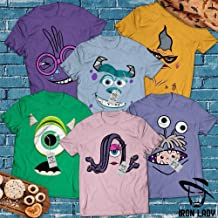 Uni Monster Mike-Wazowski-Sulley-Boo-Roz-Celia Matching Set Characters Costume For Group Family Cosplay Team Outfit Couple BF Halloween T-Shirt/Hoodie/Sweatshirt/Tank/Long sleeve