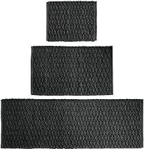 mDesign Soft 100% Cotton Luxury Rectangular Spa Mat Rugs, Water Absorbent, Diamond Design - for Bathroom Vanity, Bathtub/S...