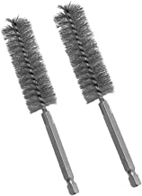 """2pc Stainless Steel ALAZCO 5/8"""" Wire Brush for Power Drill Impact Driver – Hex Shank"""
