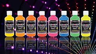 Sargent Art 17-5708 Neon Tempera Paint 8 ounce, 8 Vibrant Fluorescent Colors, 8 Flip Cap Bottles 8 Count