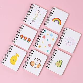 Mały notatnik XiYee 8 sztuk mini notatnik dla dzieci, przenośny, mały notatnik, dla dzieci, mały notatnik, notatnik spiral...
