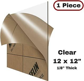 MIFFLIN Cast Plexiglass Sheet (Transparent Clear, 1 Piece, 12x12 Inch, 0.118