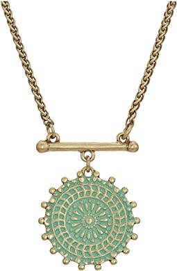 Lucky Brand Medallion Necklace