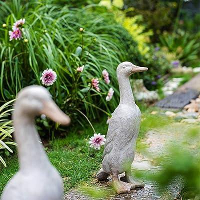 Kw-tool Escultura Decoración Decoración Pato Patio al Aire Libre Jardín Paisaje Animal Estatua Decoración del Piso,A: Amazon.es: Hogar