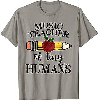 Music Teacher of Tiny Humans Back To School Music Director T-Shirt