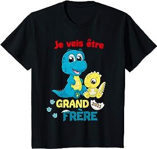 Enfant Annoncer Grossesse Dinosaure Je vais être Grand Frère 2021 T-Shirt