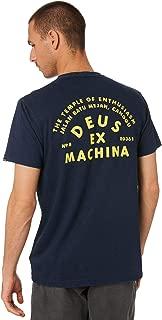 Deus Ex Machina Men's Roller Canggu Address Crew Neck Short Sleeve Cotton Blue