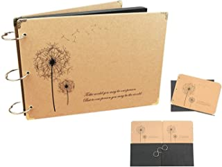 Photo Albums by Ibeston, DIY Scrapbook, Gift for Friends, Colleagues, Grandparents, Lovers, 27*18.5 cm 60 Pages 30 Sheet