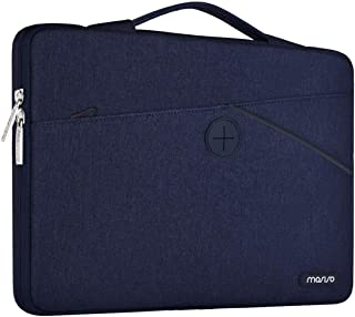 MOSISO 360° Protective Laptop Briefcase Handbag Polyester Shockproof Retractable Handle Carrying Sleeve Case Cover Bag Blue Navy Blue