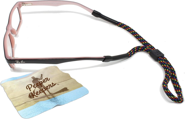 Peeper Keepers Retainers, Kids Sportcord Eyeglass Cord, Sunglass Holder | w/Microfiber Cloth, Screwdriver