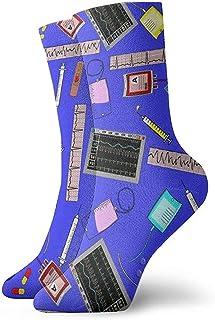 Dydan Tne, Hospital Nurse Theme Royal Blue Dress Calcetines Divertidos Crazy Socks Calcetines Casuales para niñas niños