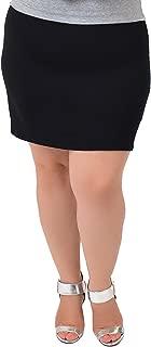 Women's Plus Size Cotton Soft Stretch Fabric Basic Mini Skirt