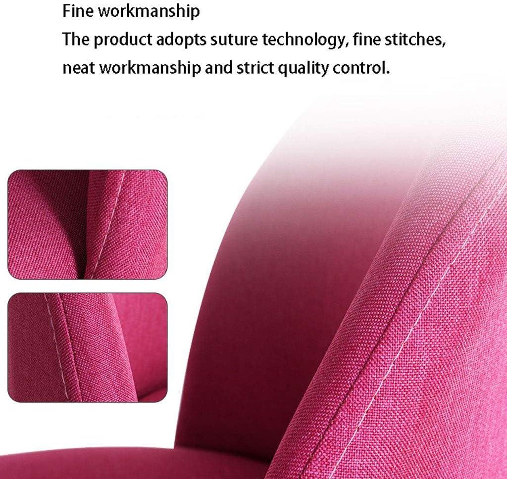 Chaise en Bois Massif Moderne Minimaliste Lazy président Nordique Loisirs créatifs de Bureau Accueil Tissu Dossier (Color : C) D