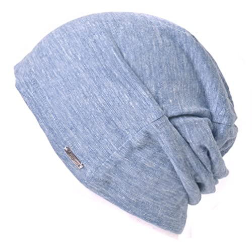 67f1c1fff7a Linen Mens Summer Beanie - Slouchy Lightweight Knit Hat Cap Made in Japan  By Casualbox