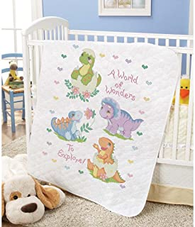 stamped cross stitch baby quilt kits