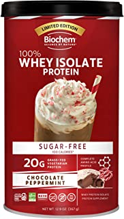 Biochem 100% Whey Isolate Protein - Chocolate Peppermint Flavor - Pre & Post Workout - Meal Replacement - Keto-Friendly - ...