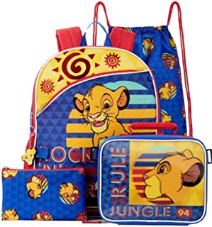 Fastforward Kids School Backpack Lion King 5 Pc Set with Lunch Bag