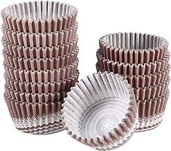 Wrapper à cupcake antiadhésif, coupe en papier en rose d'huile d'huile usage unique résistance à la température (couleur d...