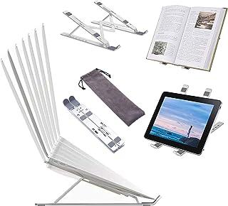ノートパソコンスタンド 折りたたみ式 ラップトッ pcプスタンド 軽量 アルミ合金製 携帯スタンド タブレットスタンド 7段階調節可能 人間工学に基づいたデザイン 滑り止め 30KG荷重 ナートPC Macbook iPadなど10-15.6イ...