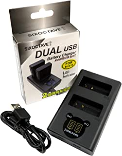 SIXOCTAVE Panasonic パナソニック DMW-BLE9 / DMW-BLG10 用 デュアル USB 急速互換充電器 カメラ バッテリー チャージャー DMW-BTC9 [バッテリー2個まで同時充電可能 純正 互換電池共に対応 ...