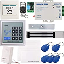 UHPPOTE Full Complete 125KHz RFID Card Outswinging Door Access Control Kit Including 600lbs Force Electric Magnetic Lock - Electromagnetic Lock with UL-Listed Certified