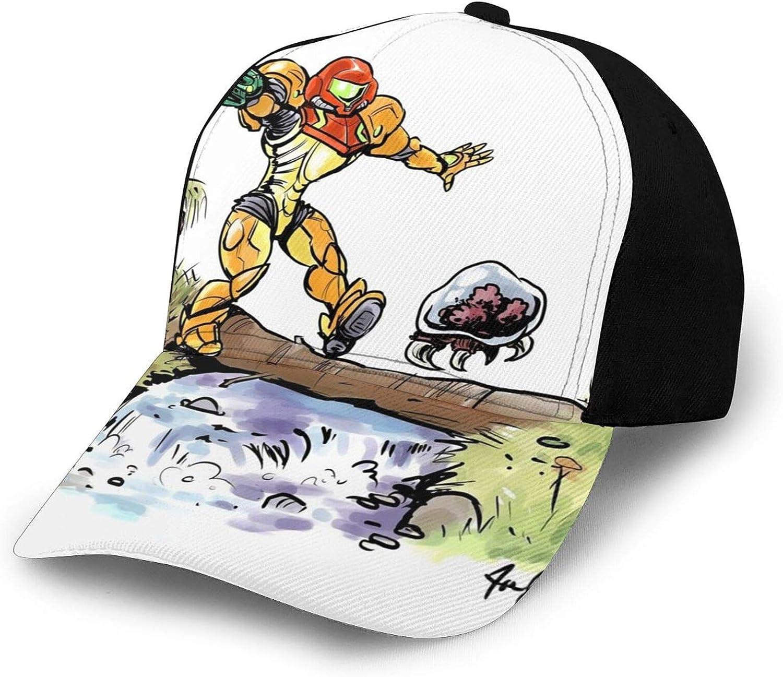 Samus and Metroid Hats Men Women Adjustable Baseball Cap Unisex Classic Hat