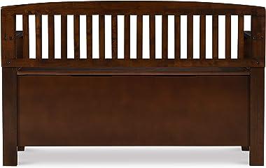 "Linon Home Dcor Bench, 50"" w x 17.25"" d x 32"" h, Walnut"