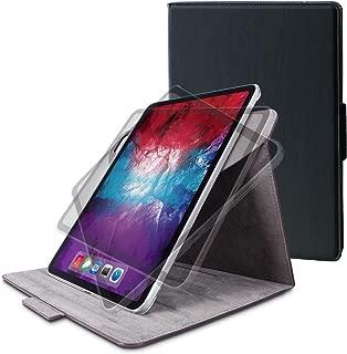エレコム iPad Pro 11 2020 フラップケース ソフトレザー 360度回転 ブラック TB-A20PM360BK