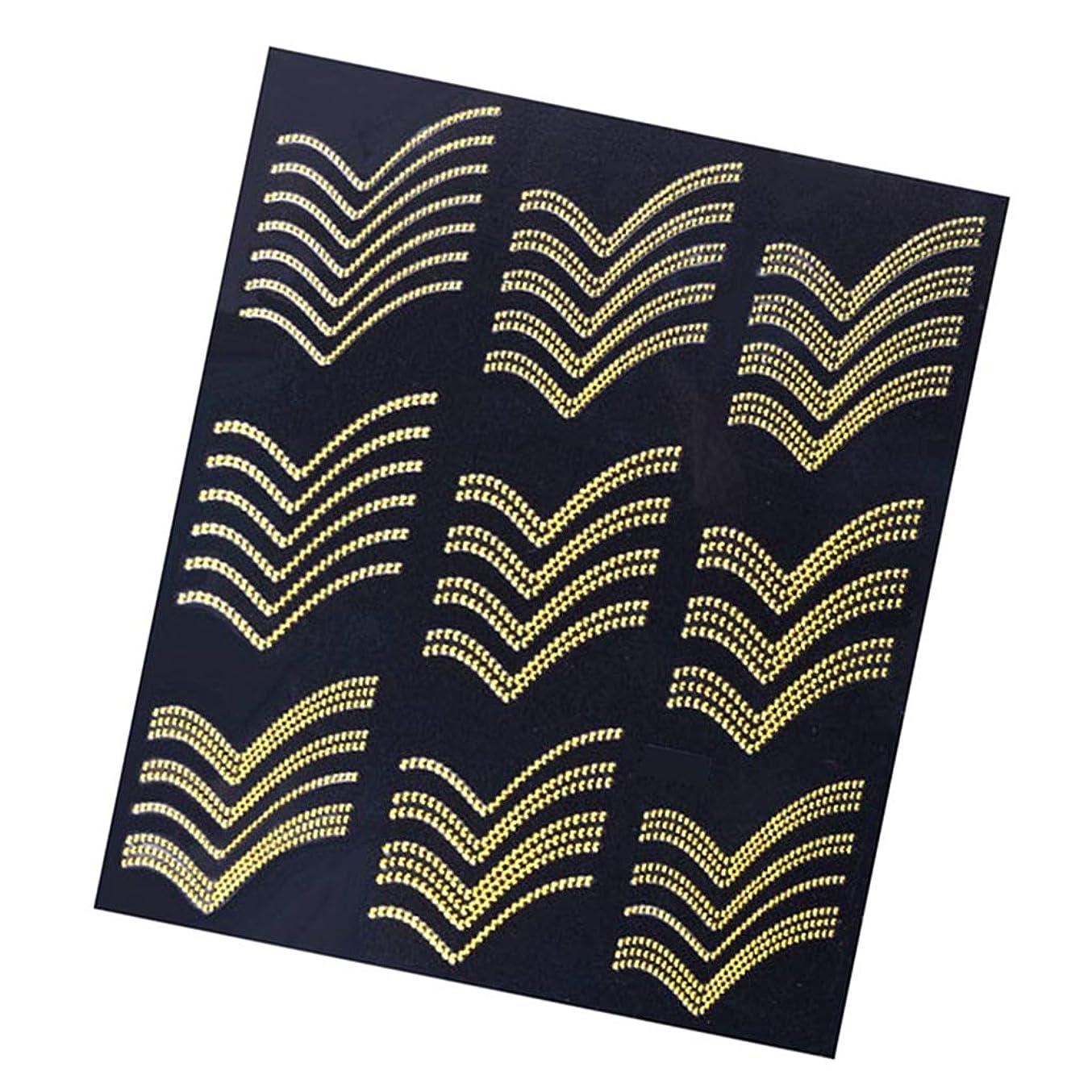 振動する積極的にフラフープネイルアート ネイルステッカー ネイル装飾 ネイルシール 3D 自己接着 ゴールド全8選択 - #5
