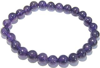 Crystal Miracle Beautiful Amethyst Beaded Round Bracelet Crystal Healing Men Women Gift Fashion Jewelry Peace Meditation C...
