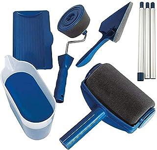 Rouleau de peinture anti-goutte - Rouleau de peinture pour murs et plafonds - Rouleau rechargeable avec réservoir et bâton...