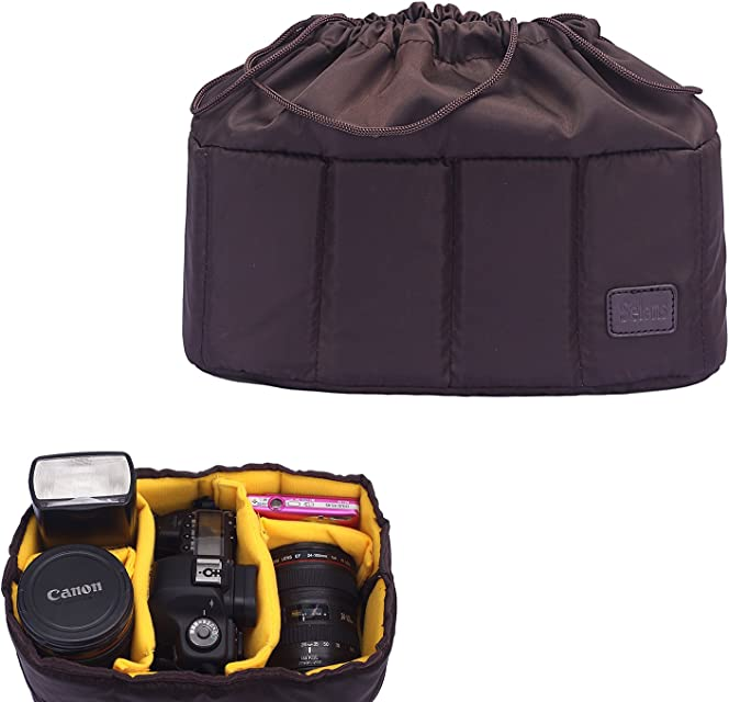 Selens Bolsa de Cámara DSLR SLR Bolso Caja A Prueba de Golpes A Prueba de Agua Portátil Partición Acolchada Insertar Camera Bag Case Haga Su Propio Bolsa de la Cámara