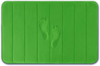 Yimobra Memory Foam Bath Mat Large Size 31.5 by 19.8 Inches, Soft and Comfortable, Maximum Absorbent, Non-Slip, Thick, Machine Wash, Easier to Dry for Bathroom Floor Rug, Moss