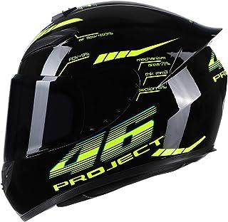 VISLONE Casco de Motocicleta Casco de Moto Integral Disponible en Cuatro Estaciones, L(59-60cm)