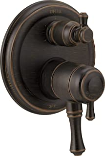 Delta Faucet T27997-RB Cassidy Traditional Monitor 17 Series Valve Trim with 6-Setting Integrated Diverter, Venetian Bronze