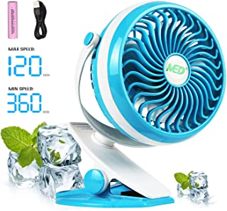 Black iuchoice ❤️❤️ Portable Rechargeable Fan Air Cooler Mini Operated Hand Held USB 18650 Battery