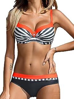 d7ed40b7db9c UMIPUBO Costumi da Bagno Push Up Imbottito Costumi da Mare Donna Due Pezzi  Bikini Sexy Spiaggia