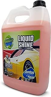 Green Wash 3 Liquid Shine Cera Líquida Express de Carnaúba Ecológica Quick Detailer Galón 3.78 litros Lista para Usar