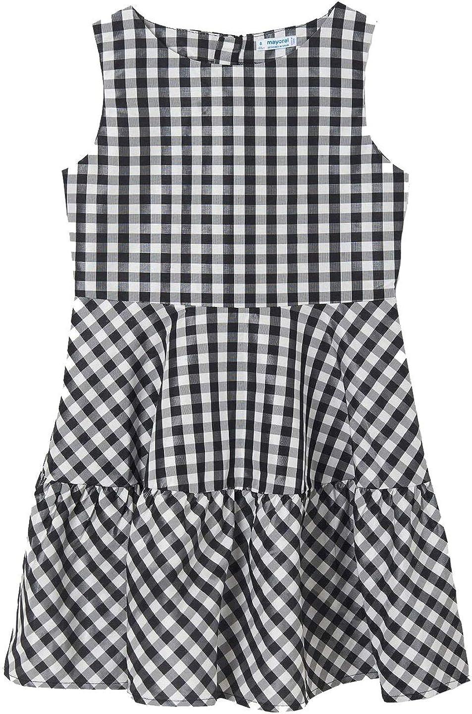 Mayoral - guingham Dress for Girls - 6929, Black