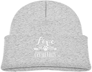 ADGoods Kids Children Love Me Some Greyhounds Beanie Hat Knitted Beanie Knit Beanie For Boys Girls Gorra de béisbol para n...