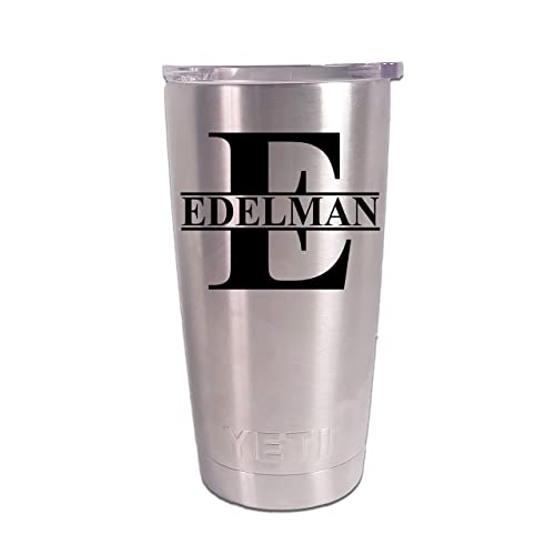 a93e3dbe01f Personalized YETI 20 oz.Tumbler Split Monogram CUSTOM Laser Engraved
