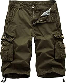 Sponsored Ad - EAEAO Mens Cargo Shorts Relaxed Fit Multi-Pocket Outdoor Cargo Shorts