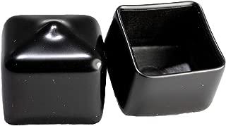 Prescott Plastics 8 Pack: Square Black Vinyl End Cap, Flexible Pipe Post Rubber Cover (.75