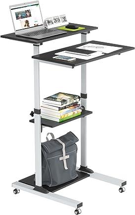 1home Compact Mobile Stand Up Computer Workstation Altura Ajustable Carro de presentación