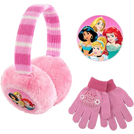 Girls Jojo Earmuffs and Gloves Set Cold Weather Winter 2 pc