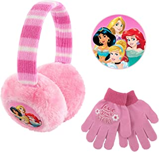 Disney Plush Earmuffs and Glove Set, Pink, Little Girls, Ages 4-7