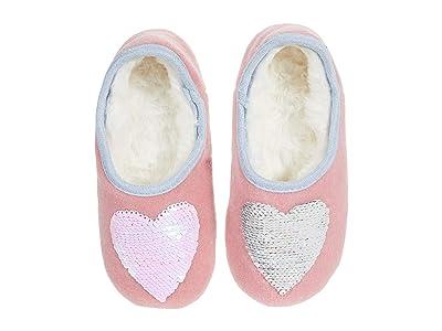 Joules Kids Slippet Felt Mule Slippers (Toddler/Little Kid/Big Kid) (Pink Heart) Girl