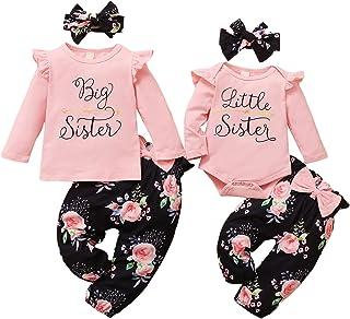 WeoTca Soeur Vêtements Assortis Enfant Bébé Fille Ensemble de Vêtements Grande Petite Soeur Assortis Ensemble de Vêtements...